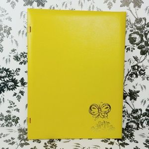 Other - Vintage yellow butterfly imprint photo album